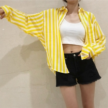 New Women Fashion Striped Long Sleeve Lapel Collar Shirt Summer Casual Button Blouses All-match Loose blouses woman 2019