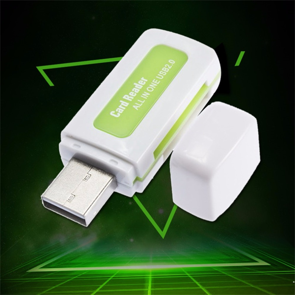 1pc USB 2.0 4 In 1 Memory Multi Card Reader For M2 SD SDHC DV Micro SD TF Card Green Wholesale Store