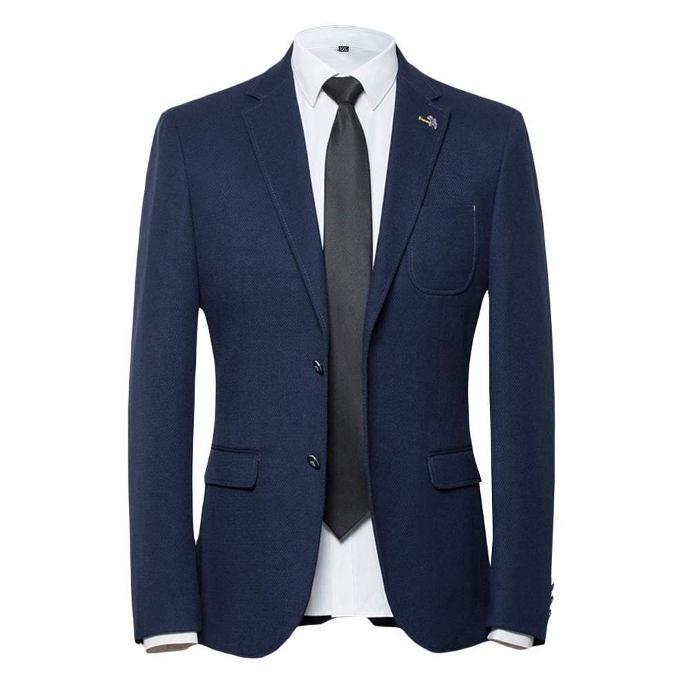 ZIOLOMA Mens Blazer Jacket Classic Brand Men Slim Fit Bussiness Suit Jacket Male Casual Two Button Solid Suit Separate Jacket