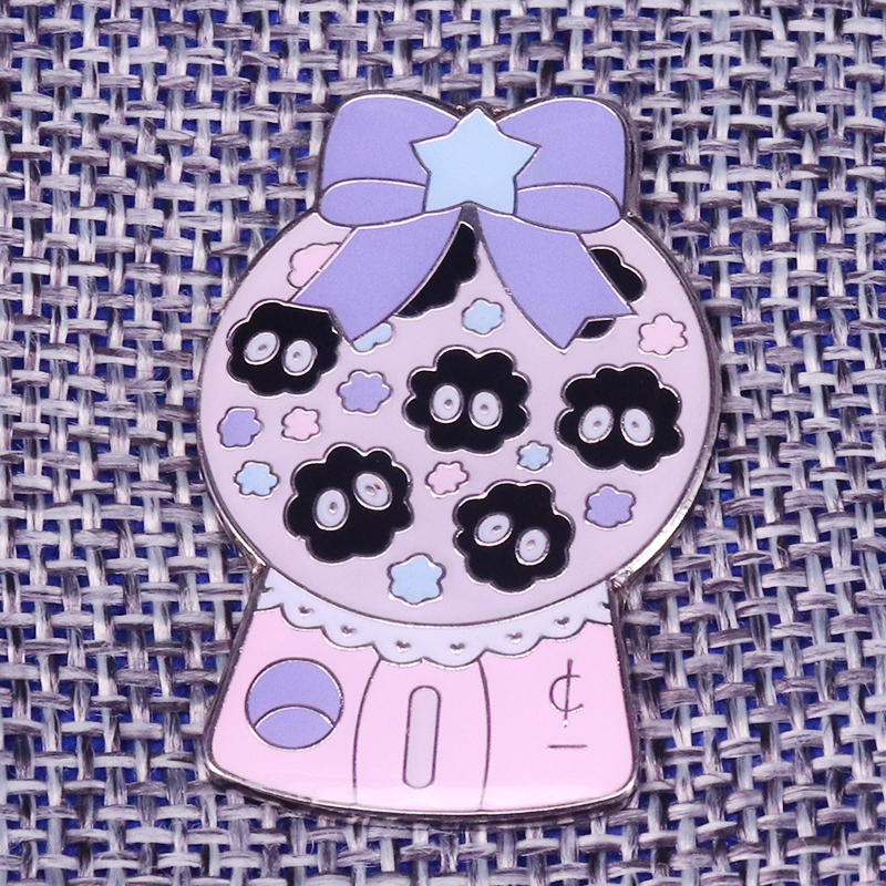 US $2 81 28% OFF|Soot sprite magic bags enamel pin pastel stars brooch  Spirited Away badge anime jewelry cute ghost pins Halloween accessory  gift-in