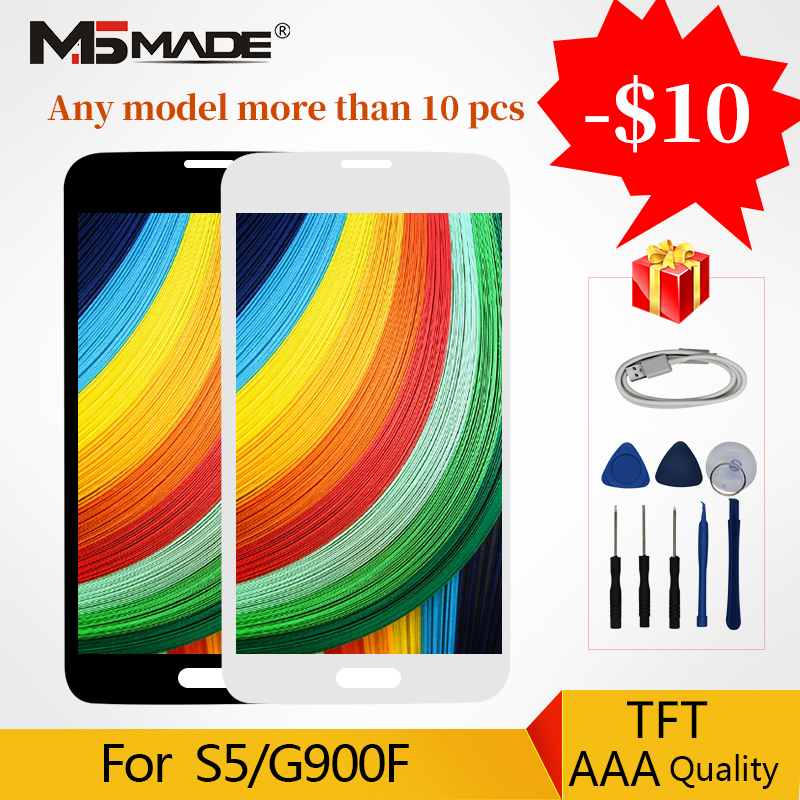AAA Quality LCD For <font><b>Samsung</b></font> Galaxy S5 I9600 G900 <font><b>G900F</b></font> G900M SM-<font><b>G900F</b></font> LCD & Touch Screen Digitizer <font><b>Display</b></font> Replacement Parts image
