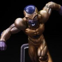 Dragon Ball Z Battle Ver. Golden Cell & Son Goku Statue Figure Model Toys