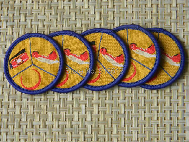 Custom brand /paper backing  woven label patches /overlock patches/merrow border patches 200pcs lot-in Badges from Home & Garden    1