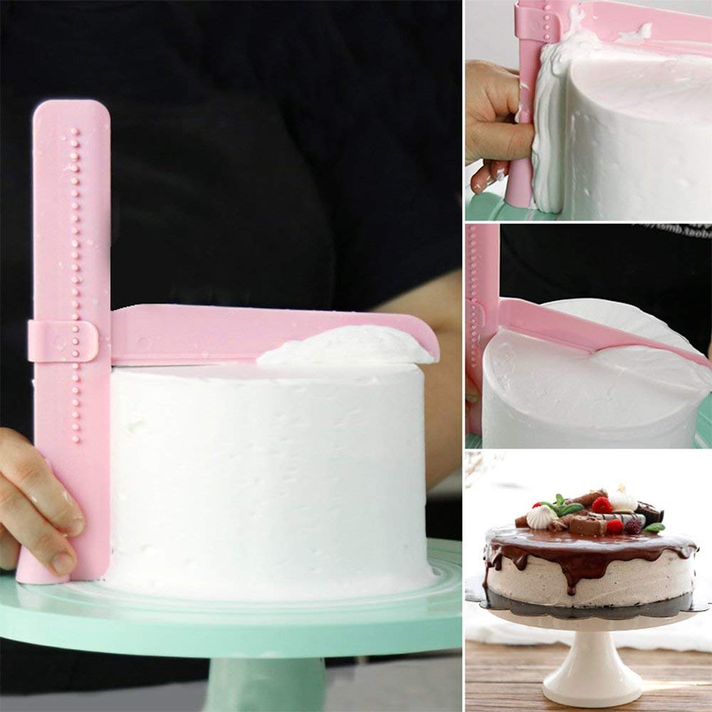 Cake Scraper Smoother Adjustable Plastic Fondant Cake Polisher Edge Smoothing Tool For DIY Cake