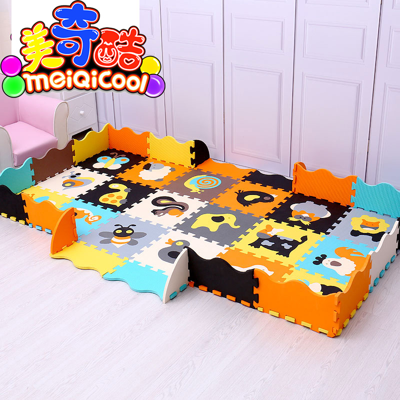 Mei qi cool bébé tapis de jeu EVA mousse puzzle tapis/bande dessinée EVA mousse pad/tapis de verrouillage pour enfants 30X30 cm 1 cm ou 32*32 cm 1.2 cm