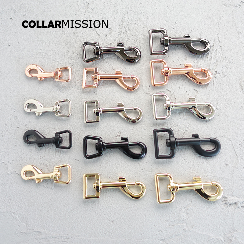 20pcs lot Metal buckle DIY cat dog leash 25mm webbing swivel snap hook backpack 15mm diy