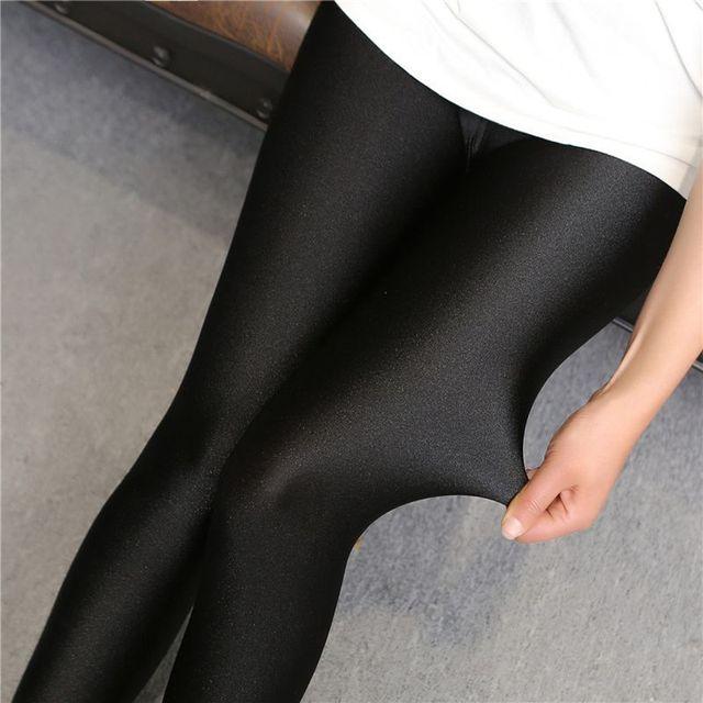 696428595c216 2018 lady push up slim leggings fashion new style hot shine legging girl  black leggings summer autumn large size fitness pant