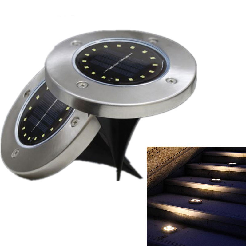 16 LED/12 LED Solar Power Disk Lights Buried Light Outdoor Under Ground Waterproof Lamp LED Buried Lamps For Garden Lawn Yard