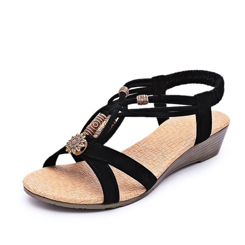 Hot Women Sandals For Summer 2016 New Vintage Style Gladiator Platform Wedges Shoes Woman Beach Flip Flops Bohemia Sandal XWZ591 casual wedges sandals 2017 summer beach women shoes platform flip flops print sandal comfort creepers shoes woman