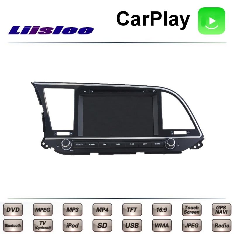 For Hyundai Elantra AD 2015 2016 2017 LiisLee Car Multimedia TV DVD GPS Radio Carplay Original Style Navigation Navi for bmw 5 e39 520 523 525 528 530 535 540 car multimedia tv dvd gps radio carplay original style navigation liislee navi