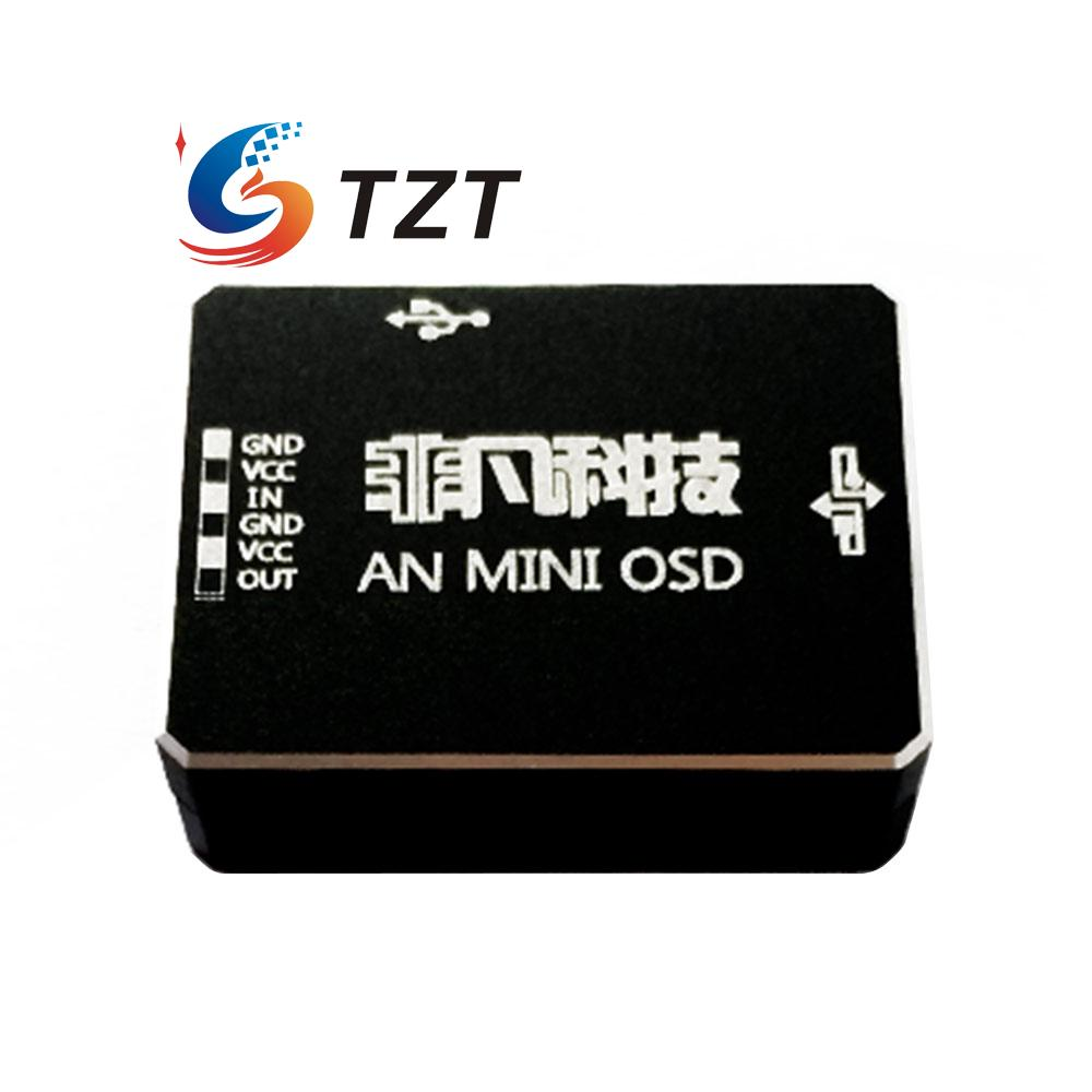 AN MINI OSD Module with CAN HUB Support DJI A2 Flight Control NAZA V2 & Phantom 2 for RC Multicopter fpv s2 osd barometer version osd board read naza data phantom 2 iosd osd barometer with 8m gps module