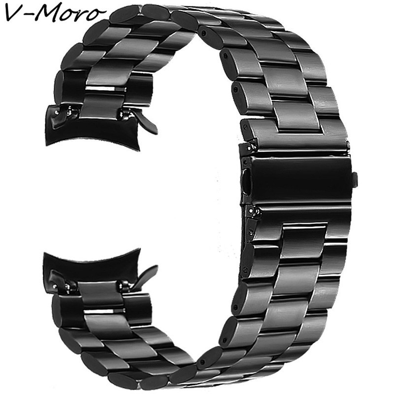 все цены на V-MORO 22mm Stainless Steel Band Bracelet Adapter For Gear S3 Band Metal Clip Watch Straps For Samsung Gear S3 Classic Frontier онлайн