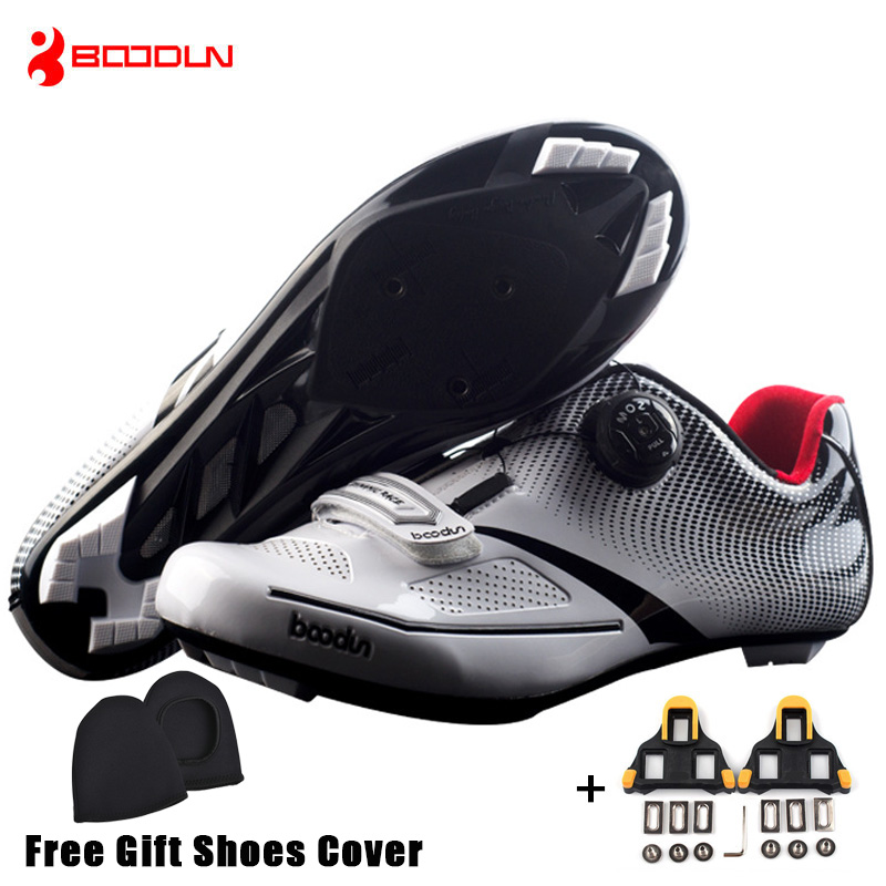 Boodun Breathable Pro Self-Locking Cycling Shoes Road Bike Bicycle Shoes Ultralight Athletic Racing Sneakers Zapatos Ciclismo sidebike mens road cycling shoes breathable road bicycle bike shoes black green 4 color self locking zapatillas ciclismo 2016
