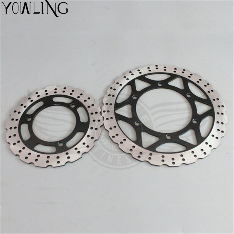 new brand motorcycle Accessories Front 290MM & Rear 220MM Brake Disc Rotor for KAWASAKI EX250 NINJA 250 2008 2009 2010 2011 2012 купить в Москве 2019