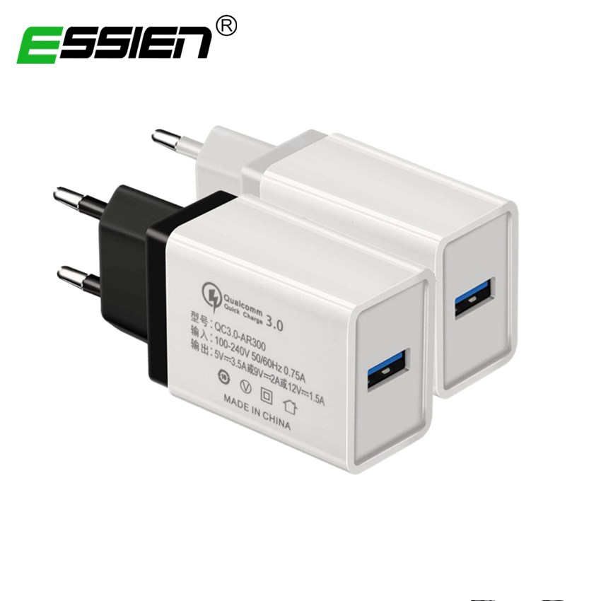 ESSIEN 5V 3.5A QC3.0 Fast Charger,2A Micro USB 2.0 Fast Data Sync Charger Cable for Samsun