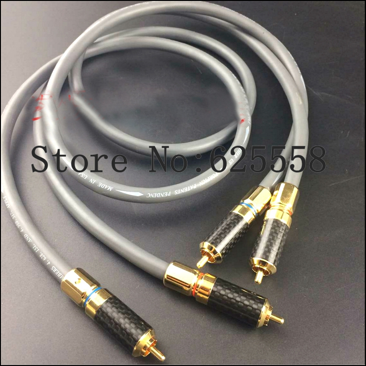 One Pair 1.5M DIY HifiTwinlink Copper RCA Interconnect Audio Cable Hifi RCA Plug Cable pair copper colour whisper audio balance signal cable hifi interconnect cable