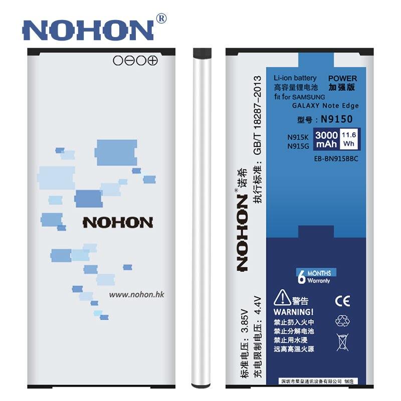 Original 3000 mAh NOHON Batterie Für SAMSUNG GALAXY Note N9150 kanten N915K N915L N915S N915X EB-BN915BBC Telefon Lithium-ionen-batterien