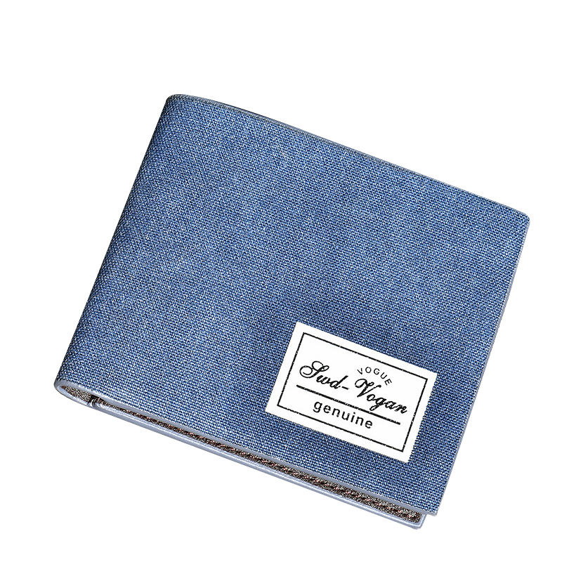Canvas Men Wallet Leather Credit Card Holder Denim Short Men Wallets Leather Casual Small Coin Purse Photo Pocket Male Money Bag contact s brand coin purse men wallets leather genuine clutch male wallet small money bag coin pocket walet credit card holder