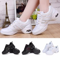 Soft Sole Women Dance Shoes Breathable Gym Sports Sneakers Girls Dancing Shoes Mordern/Jazz Dance Spring Summer Free Shipping