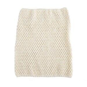 Вязаный топ-труба 9x10 дюймов, топ-пачка для маленьких девочек, вязаная юбка-американка топ-пачка, вязаная крючком повязка на голову, смешанные цвета, 10 шт. в партии - Цвет: Cream 10pcs