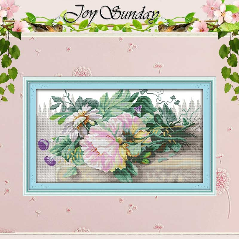 Flowers Counted Cross Stitch 11CT 14CT Counted Cross Stitch Set Wholesale DIY Home Decor Cross-stitch Kit Embroidery Needlework