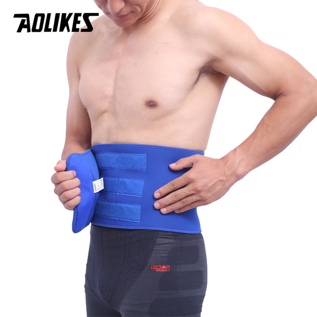 AOLIKES 1PCS Waist Support For Belts Belt Lumbar Brace Breathable Back Therapy Absorb Sweat Fitness Sport Protective Gear 3