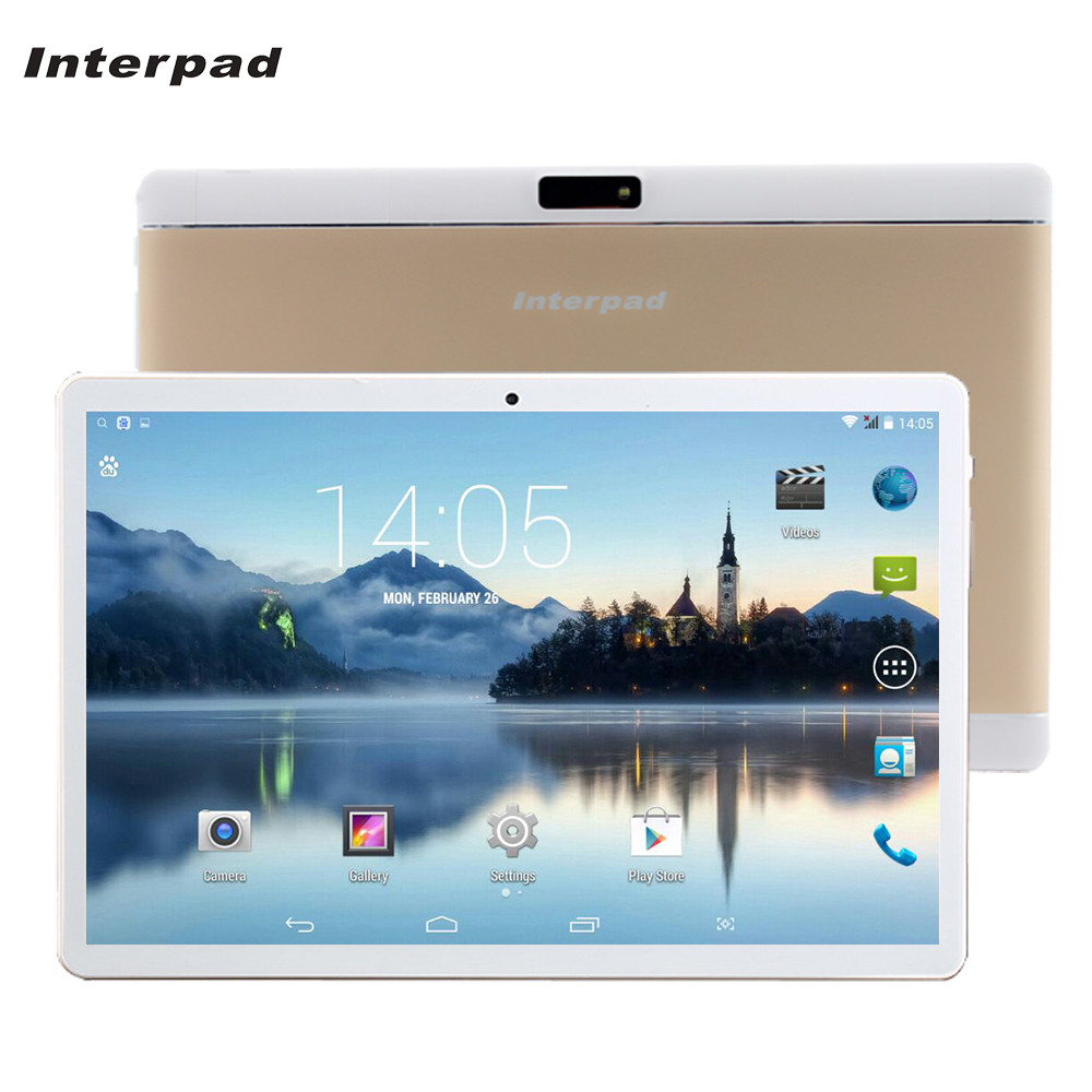 Interpad KT096H 10.1 Inch 3G Phone Call Tablets Android 4.4 Quad Core 1GB RAM 16GB ROM IPS WIFI Bluetooth GPS 10 Tablet PC 8 9 sosoon x88 quad core 8 ips android 4 4 tablet pc w 1gb ram 8gb rom hdmi gps bluetooth white