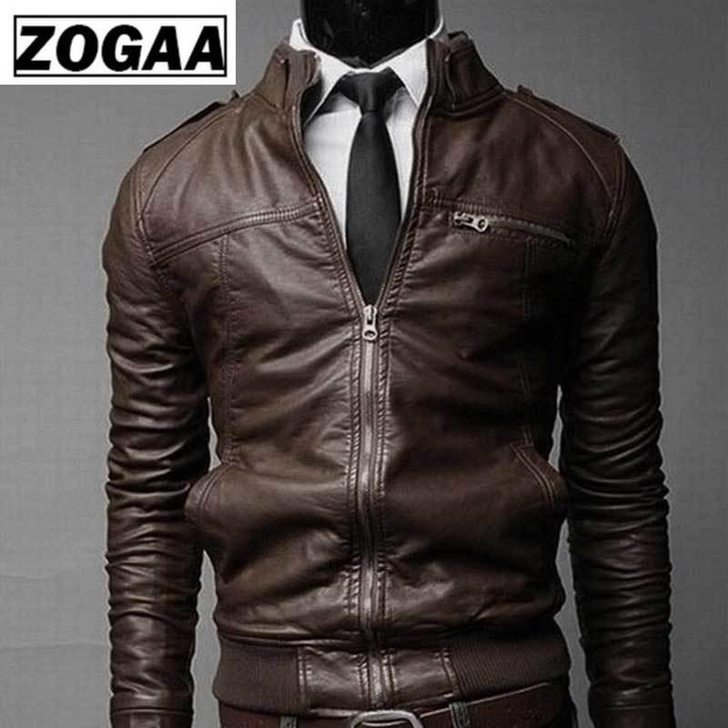 2019 Autumn Winter Korean Leather Men Jacket Cool Motorcycle Leather Male Jacket Coat Warm Men's PU Jacket