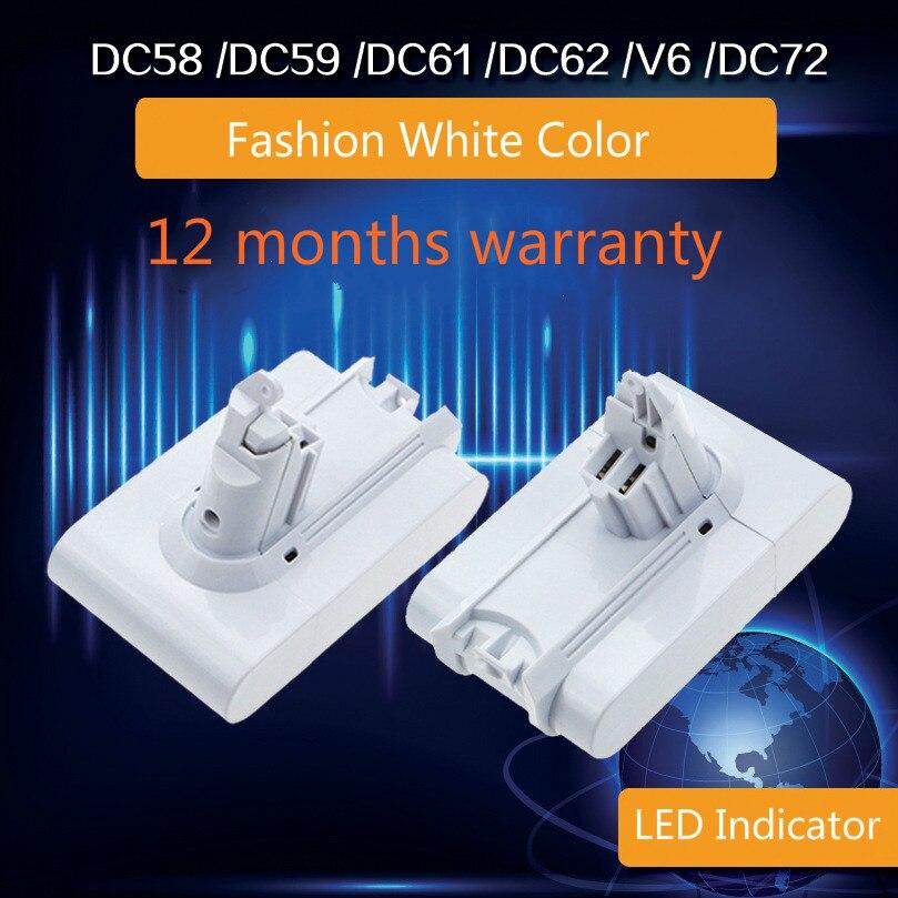 цена на LED Japan 21.6V 4500mAh Li-ion Replacement Battery For Dyson DC58 DC59 DC61 DC62 DC72 DC74 SV03 SV05 SV06 SV09