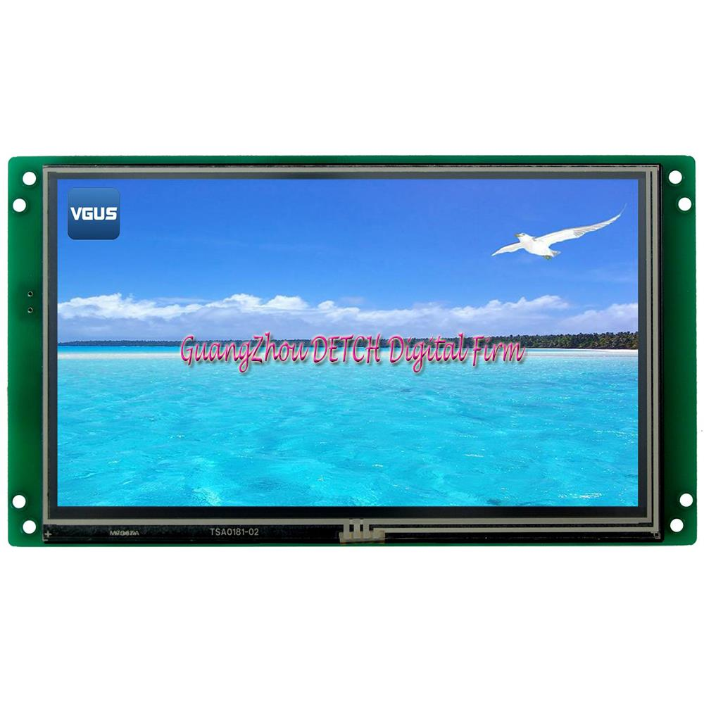 SDWe070T01T Wuhan in the display 7 inch serial configuration LCD screen with resistance touch screen