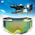 A prueba de polvo Ojo Proteger Gafas Casco de Motocross Motocicleta Off-Road SUV ATV Quad Azul + Amarillo