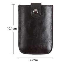 2019 New Men Credit Card Holder Fashion PU Leather With RFID Case Drawing Type Mini Wallet Coin Pocket