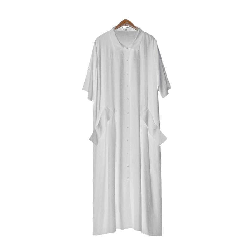TWOTWINSTYLE, женское платье-рубашка, v-образный вырез, короткий рукав, пэтчворк, карман, черное X, длинные платья, 2019, летняя мода, одежда большого размера