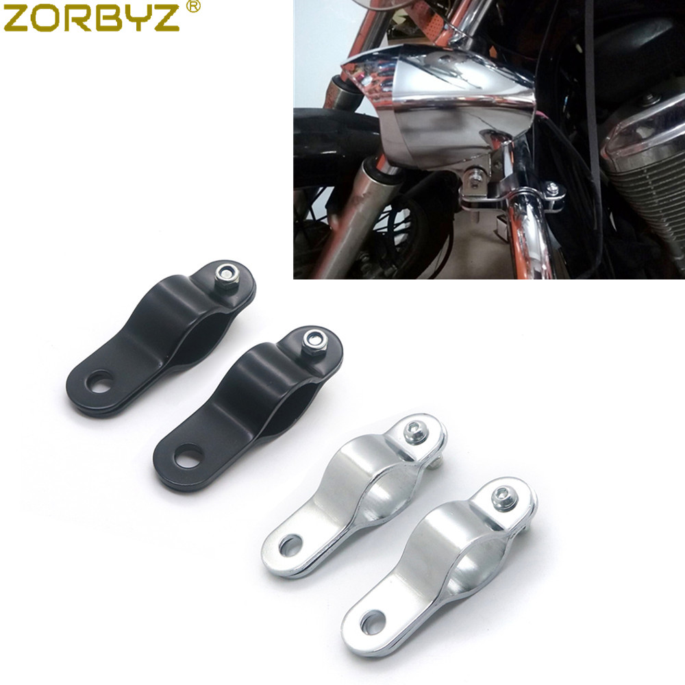 Motorcycle Turn Signal Fog Light Mount Bracket Clamp To Roll Cage Guard Bar Tube