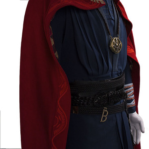 Image 4 - All Include Cosplay Doctor Strange Steve Full Set Costume & Ring Eye of Agamotto Necklace Free Halloween Party