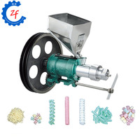 New corn puffed food extruder output 10 15kg/h maize rice puffed food machine corn puff extruder with 7 molds