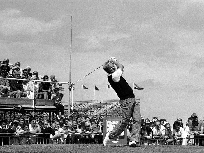D0773 Jack Nicklaus Golf BW 1985 Vintage-Print Silk Art Wall Poster