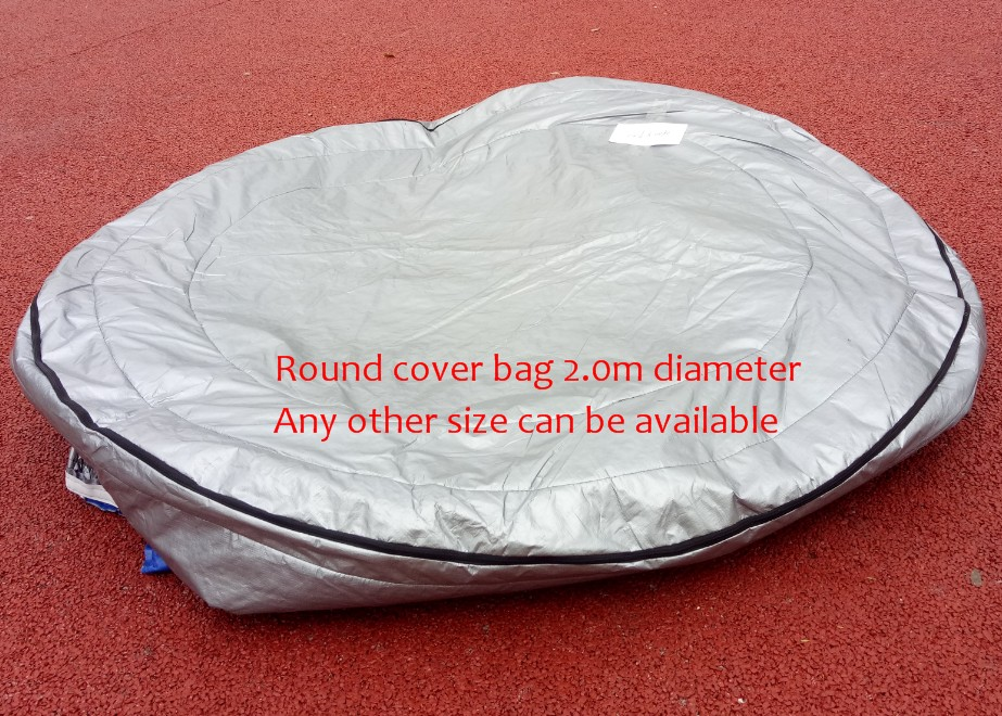 ROUND hot tub spa cover UV insulated Cover bag diameter 200cm x 90cm high Other Size can be available image