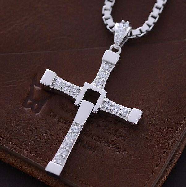 Speed and passion 925 sterling silver men cross necklace movie speed and passion 925 sterling silver men cross necklace movie jewelry the fast and the furious mozeypictures Gallery