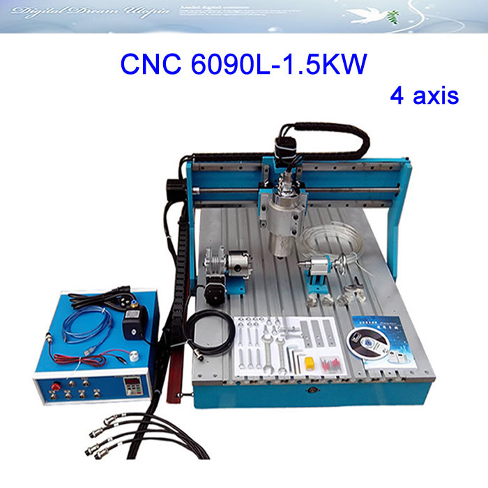 CNC LY6090L 1 5KW 4 axis Linear Guide Rail CNC Router Engraver Drilling and Milling Machine