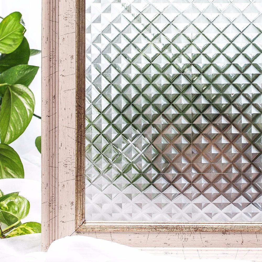 CottonColors ūdensnecaurlaidīgs logu TINT plēves Premium No-Glue 3D statiskais necaurspīdīgs mājas apdares privātuma logu uzlīme 45 x 200cm