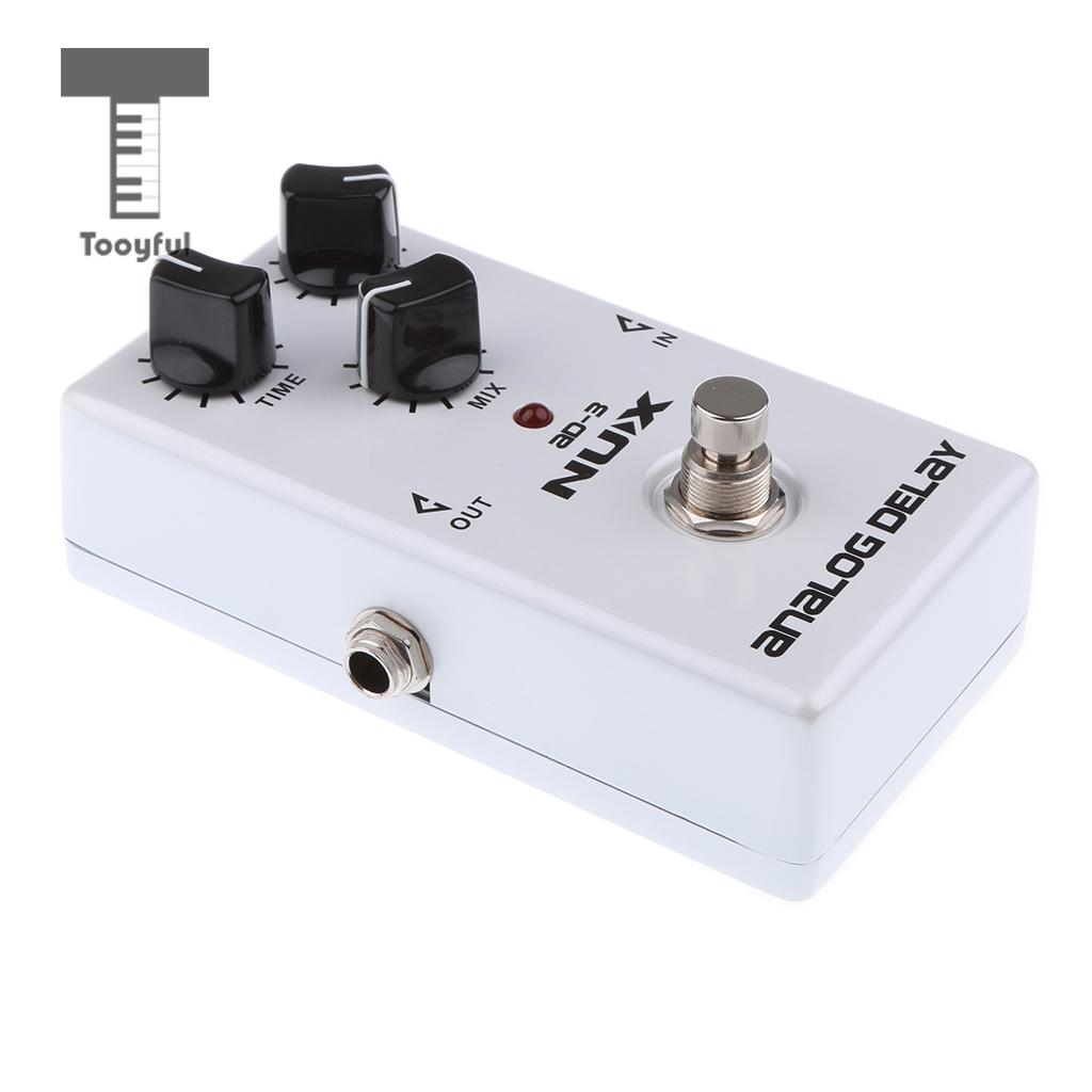 Tooyful Durable Aluminium Guitar Analog Delay Effect Pedal True Bypass AD-3 White aroma adr 3 dumbler amp simulator guitar effect pedal mini single pedals with true bypass aluminium alloy guitar accessories
