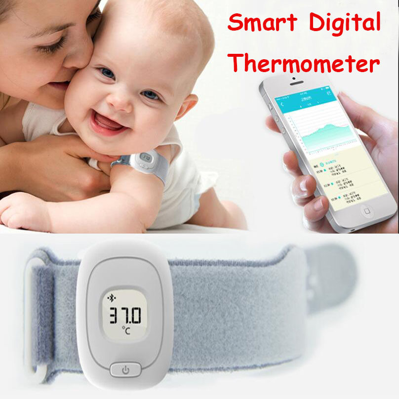 ISee бытовые смарт-цифровой термометр умный браслет Bluetooth 4.0 мониторинга Ребенка цифровые термометры Android IOS Универсальный