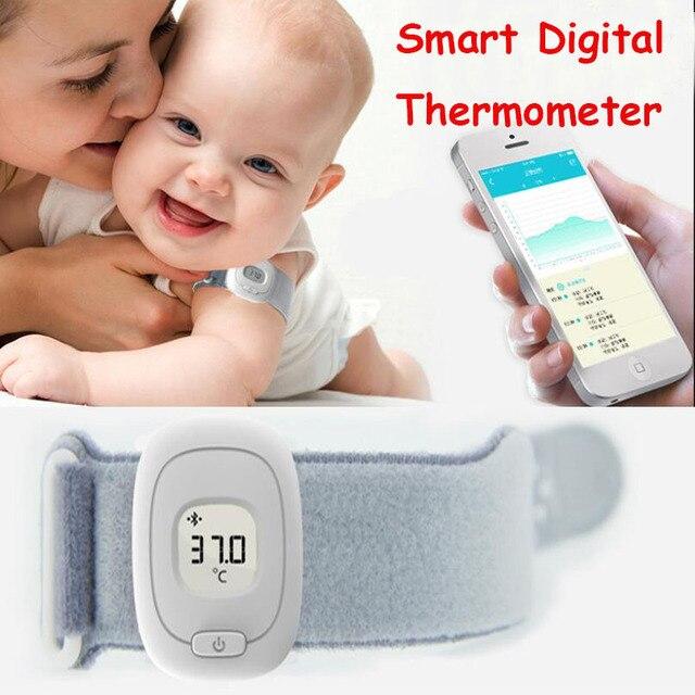 ISee бытовой умный цифровой термометр умный браслет Bluetooth 4,0 мониторинг детские термометры цифровой Android iOS Универсальный