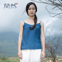 Linen Halter Top Women Summer Style Sexy Sleeveless Vest Loose Casual Linen Plus Size Tops Free Shipping