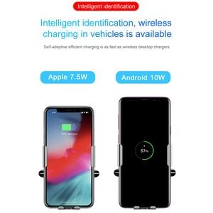 Image 4 - Baseus赤外線チーワイヤレス充電器iphone 11プロマックスxiamoミックス3車ホルダー高速wirless充電空気ベント車のマウントスタンド