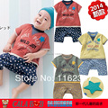 Новый 2016 Высокое качество Ребенка комбинезон девушки мальчика короткая sleepsuit мультфильм broidery летние комбинезон детей пижамы