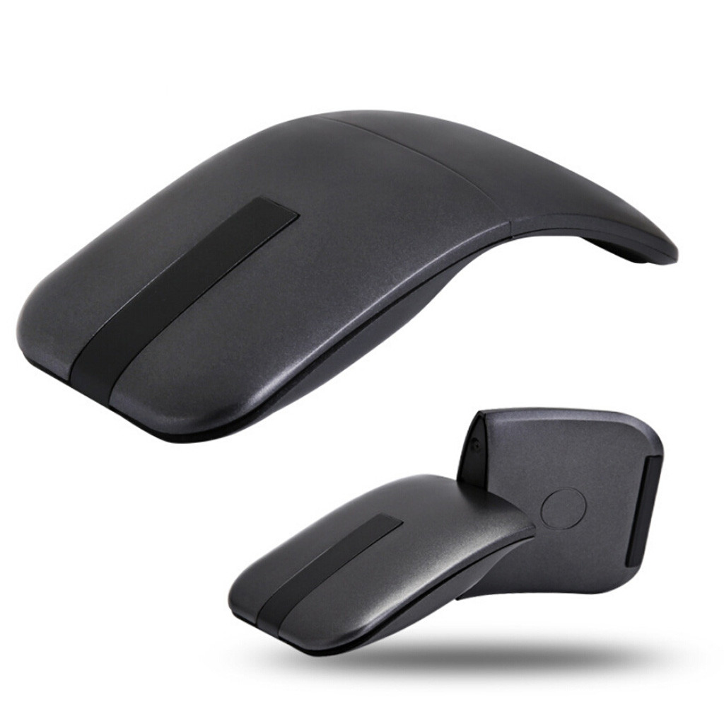Folding Wireless Mouse Comfort Foldable Mause Wireless 2.4Ghz Optical Touch Wheel USB Mice 360 Rotating For Computer Mice