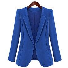 Autumn Women s Candy Color Outerwear Blaser Coat Lady Korean Slim Jacket Girls Casual Single Button