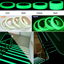 Glow Tape Self-adhesive Sticker Removable Luminous Fluorescent Glowing Dark Striking Warning